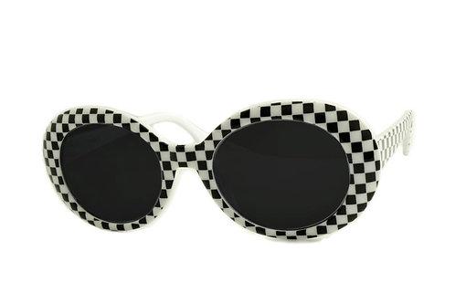 Cher Checkered Sunglasses