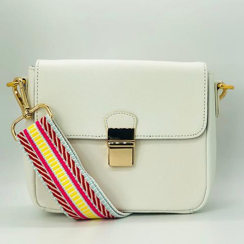 Tiny Leather Handbag -White (Option 2)
