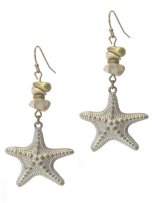 Starfish Semi Precious Stone Earrings