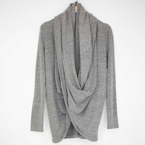 Twist Front Long Sleeve Cardigan