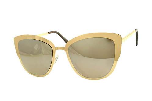Gold Metal Mirror Sunglasses