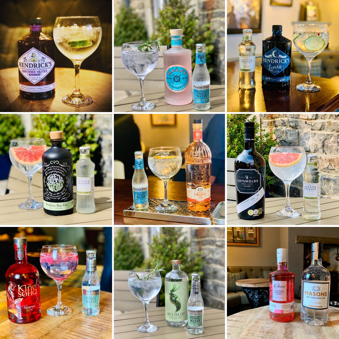 Selection of guest gins