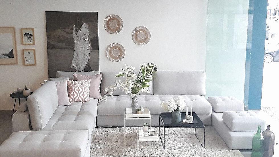 Γωνιακός καναπές Ηρώ σε διάταξη Π 360Χ260Χ200