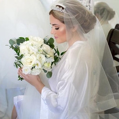 Beautiful bride and her beautiful bouque