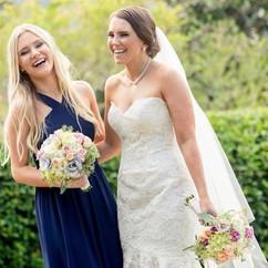Gorgeous L&L bride and bridesmaid 💕 cal