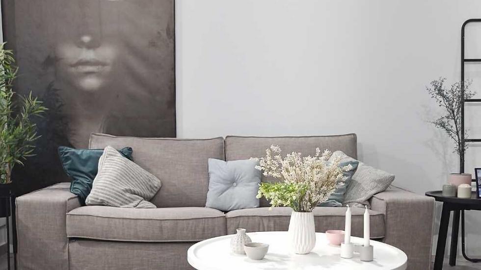 Τριθεσιος καναπές Ηβη 2.30X0.90