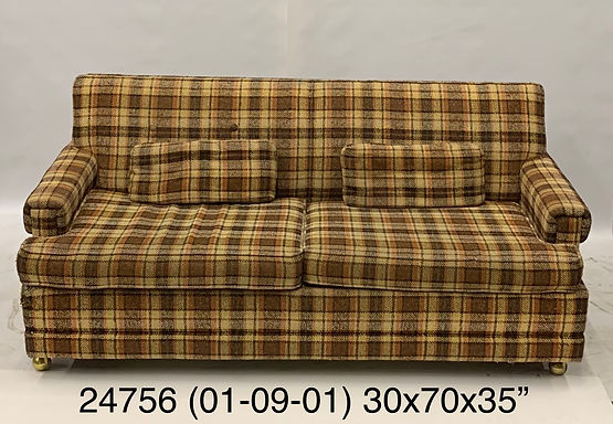 Brown Plaid COuch