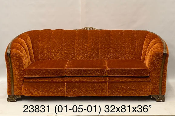 Orange Red Couch