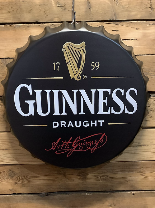 Giant Guinness bottle lid