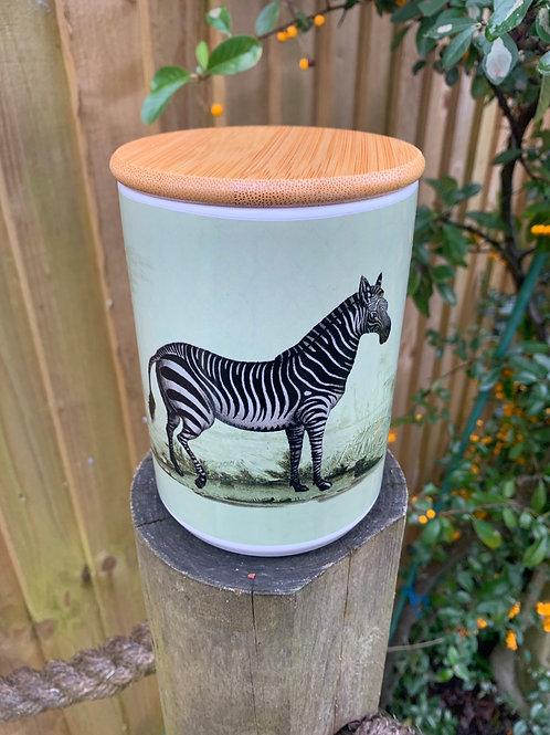 Zebra enamel caddy