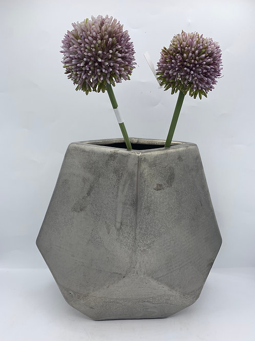 💜 Stunning matt silver vase medium size