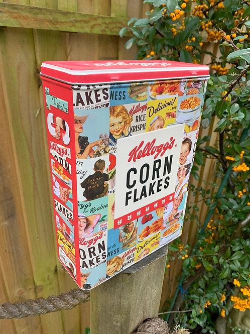 Retro cereal tin
