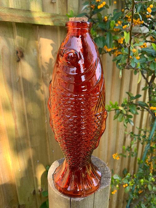 Orange fish bottle