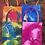 Thumbnail: Small orange tie dye gift bag