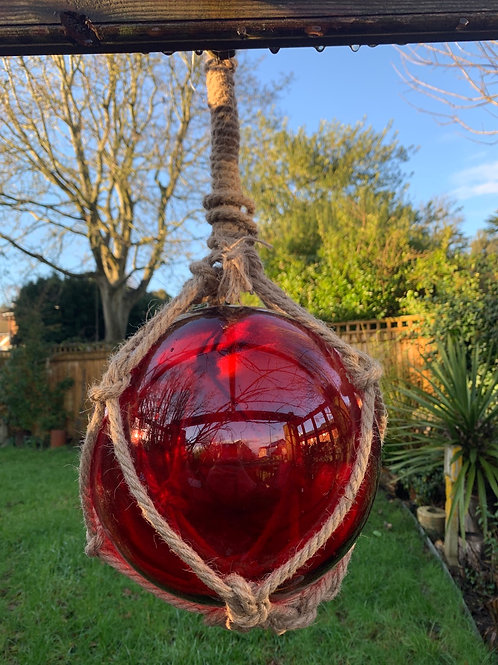X large glass red buoy