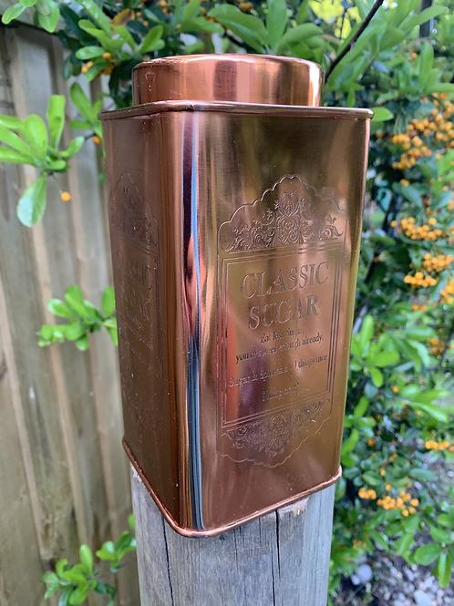 Copper style sugar caddy