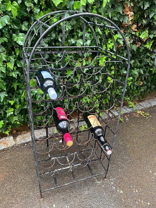 Vintage 25 bottle wine rack