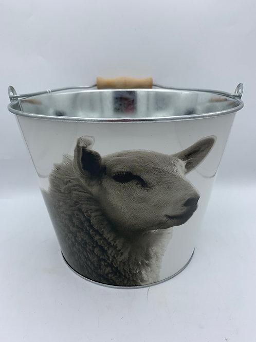 Black & white sheep bucket