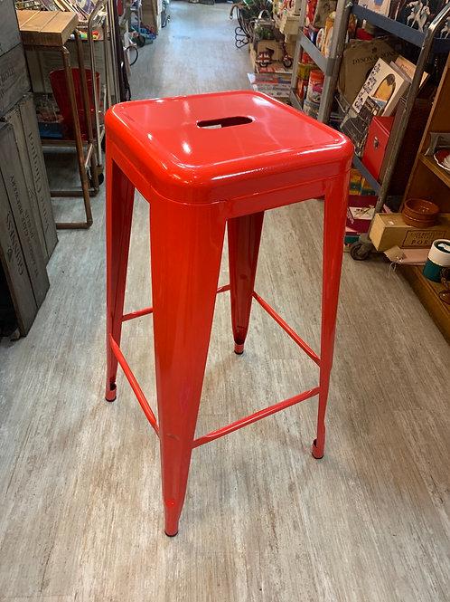 Red retro bar stool