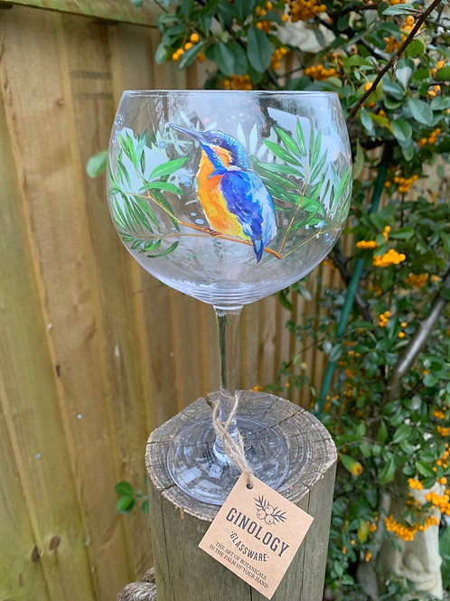 Kingfisher gin glass~gift boxed