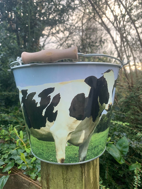Cow themed bucket!