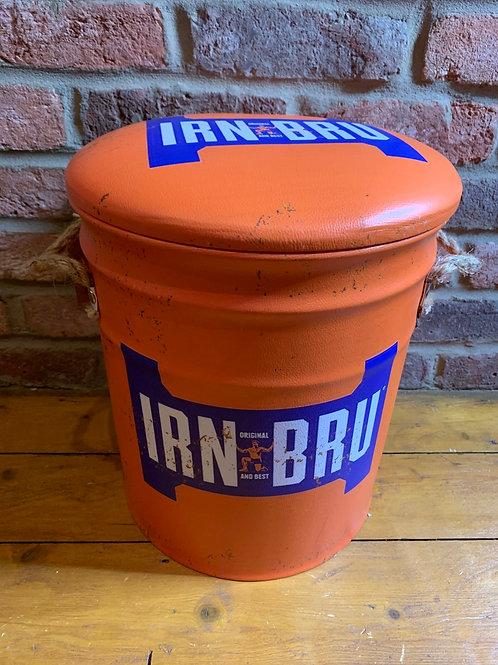 Small Irn Bru storage stool