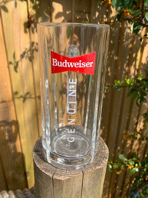 Original glass Budweiser tankard