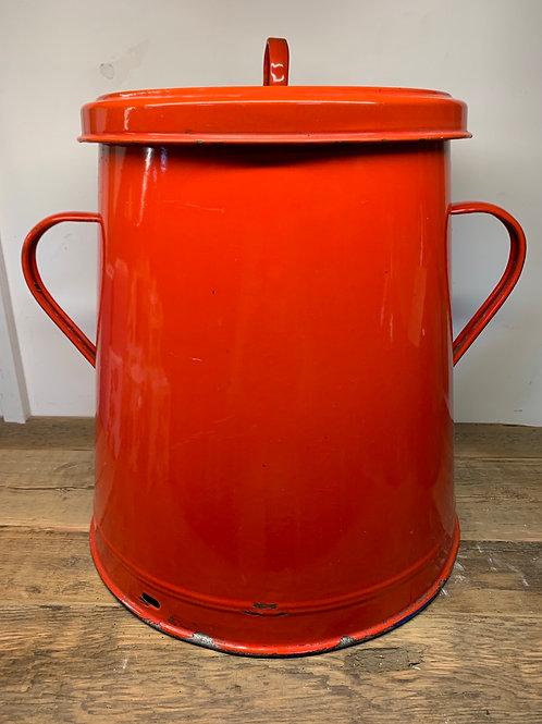 French enamel compost caddy