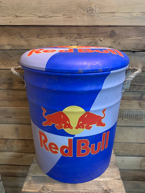 Large Red Bull storage seat