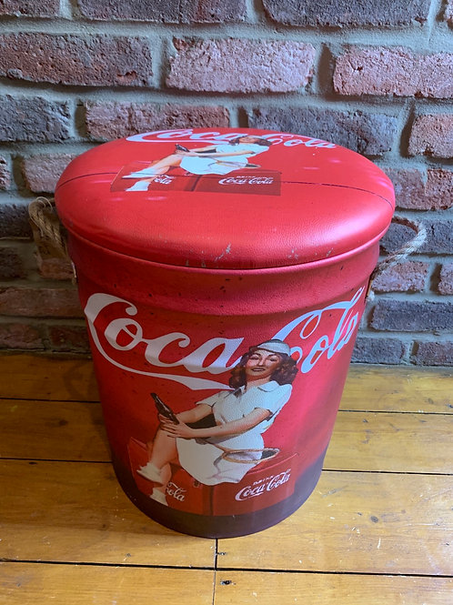 Large Coca Cola storage stool