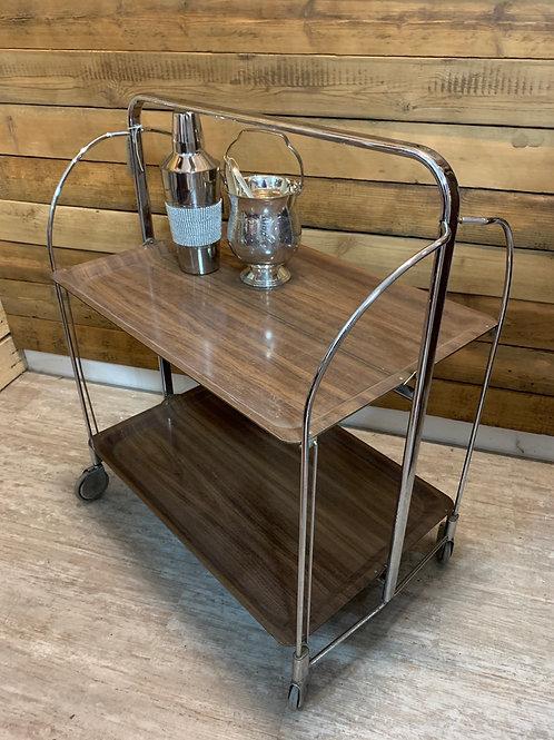 Art Deco foldable hostess trolley