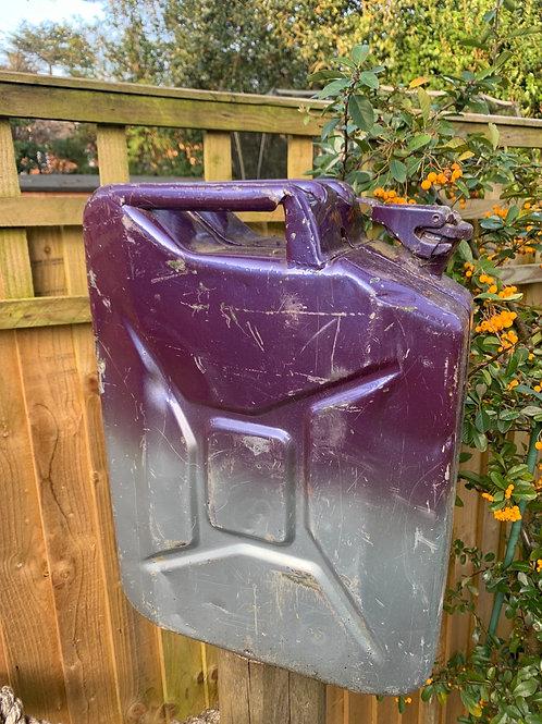 1969 rare 2 tone purple/silver jerry can
