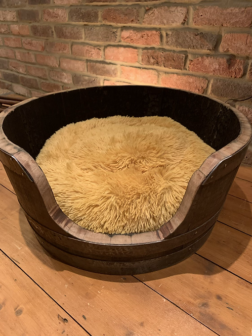 Unique handcrafted Scottish whiskey barrel dog or cat bed