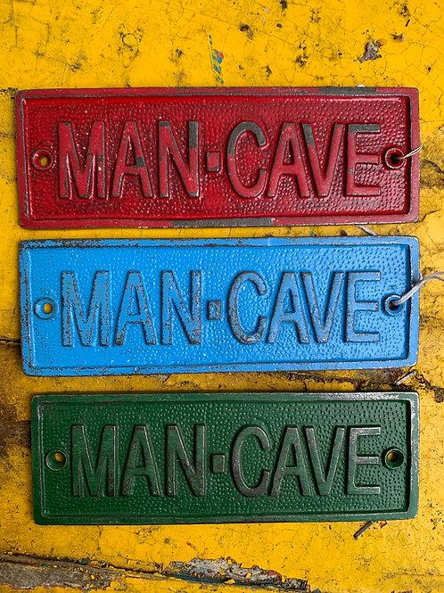 Blue MAN CAVE sign