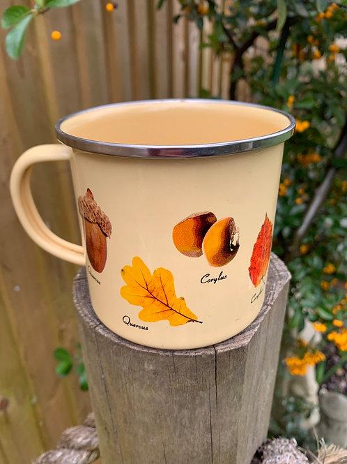 Enamel woodland mug