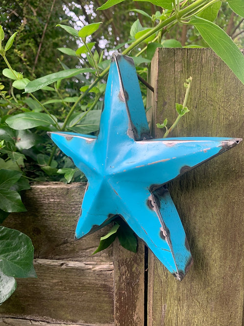 Small metal blue star
