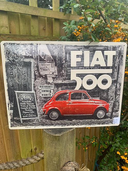 Retro Fiat 500 sign