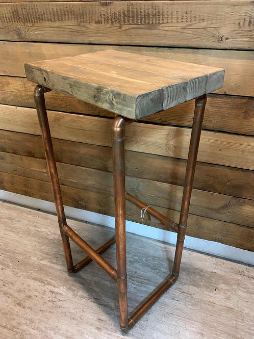 Handcrafted copper piping  stool/table