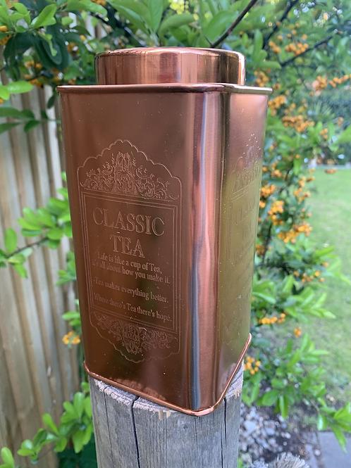 Copper style tea caddy