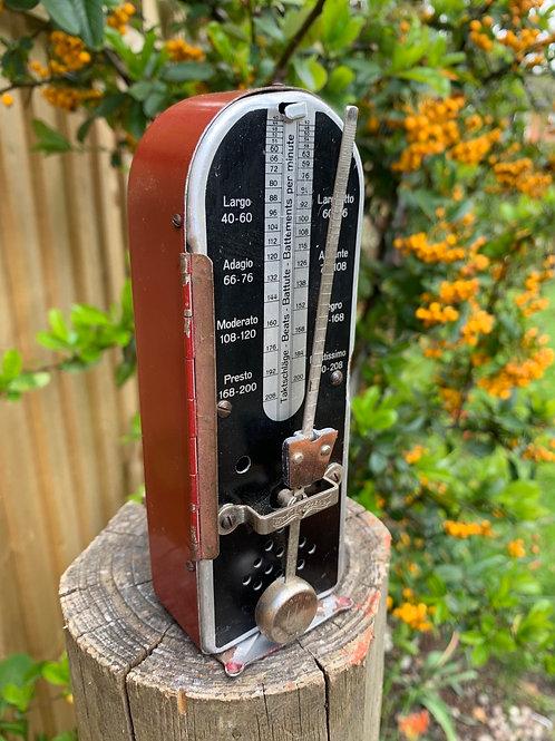 Rare vintage Taktelly Picciolo metal metronome
