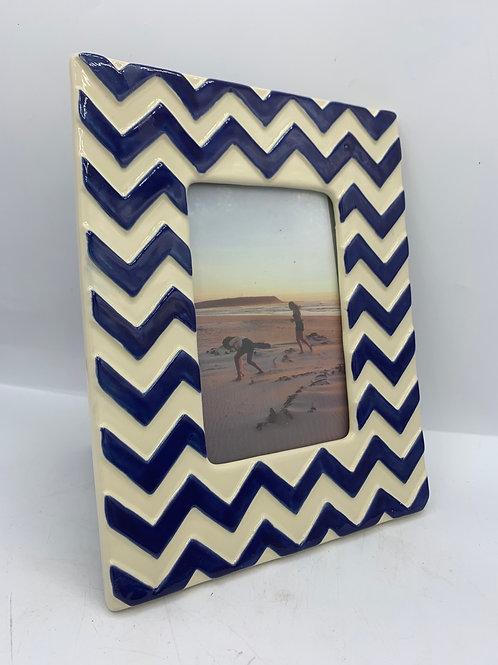 Ceramic glazed picture frame