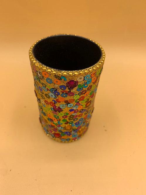 Sequin gold gem pot