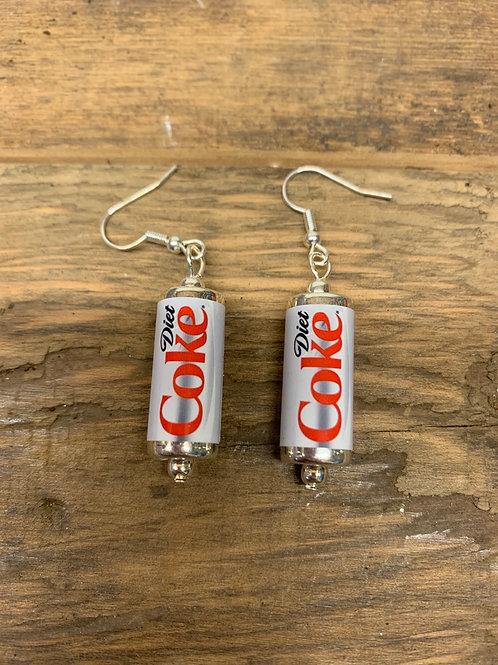 Diet Coke earrings