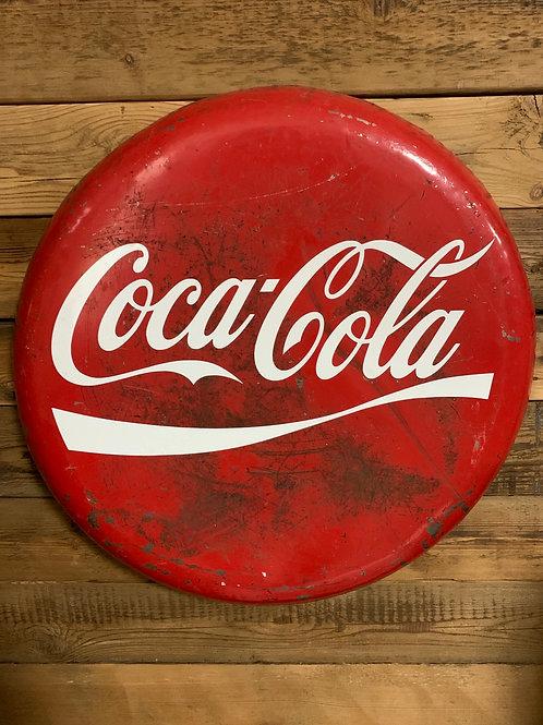 Giant vintage oil drum Coca -Cola lid