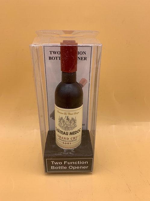 Chateau Medoc wine/beer corkscrew & bottle opener magnet