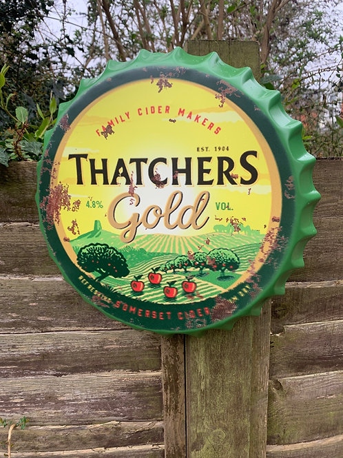 Giant Thatchers Gold bottle top
