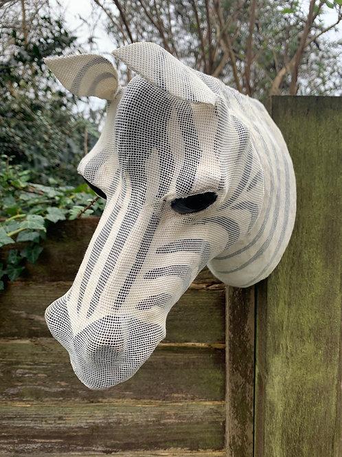 Wall mountable Zebra head