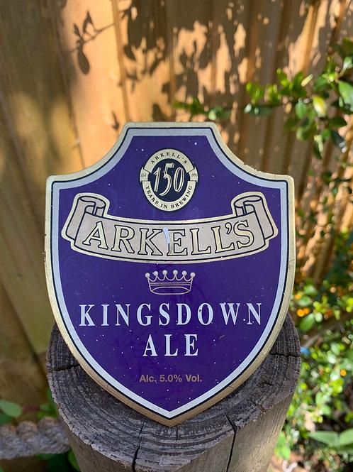 Brass vintage beer pump badge