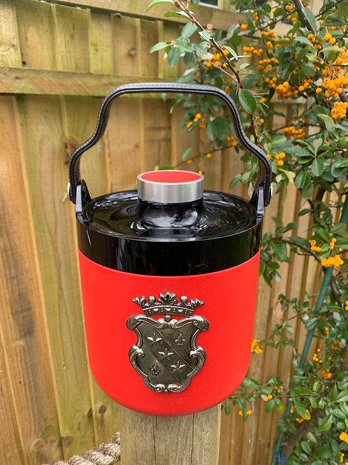 Original Sparklets 70's leather handle ice bucket