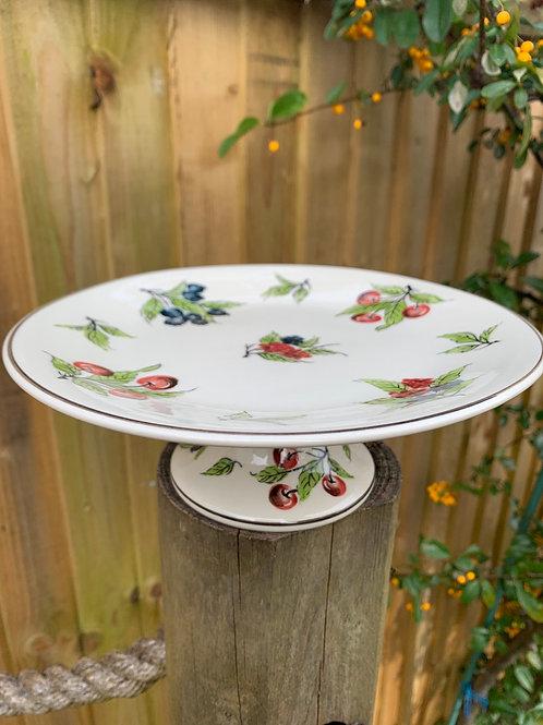 Berry ceramic cake stand